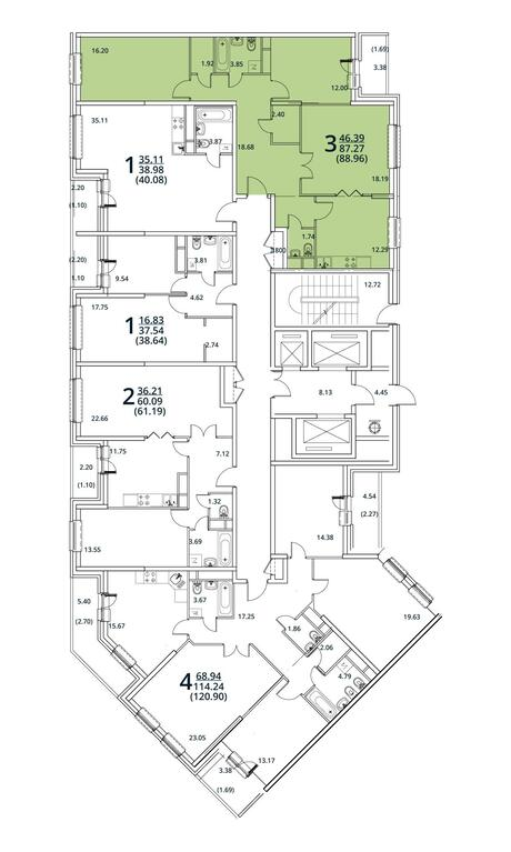 Москва, 3-х комнатная квартира, ул. Радиальная 6-я д.7, к 28/29, 8451200 руб.