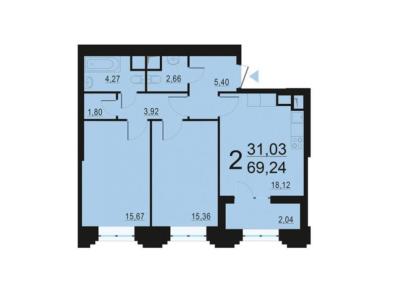 Москва, 2-х комнатная квартира, ул. Берзарина д.28, 13093561 руб.