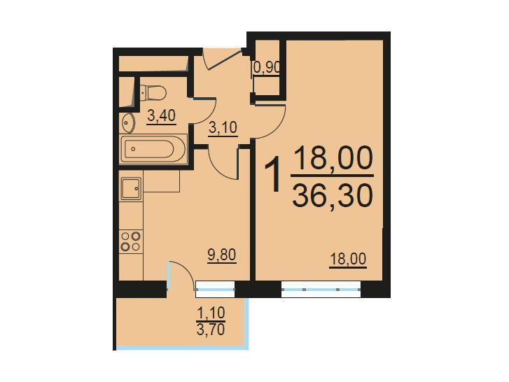 Москва, 1-но комнатная квартира, Внутренний проезд д.8с1, 8007236 руб.