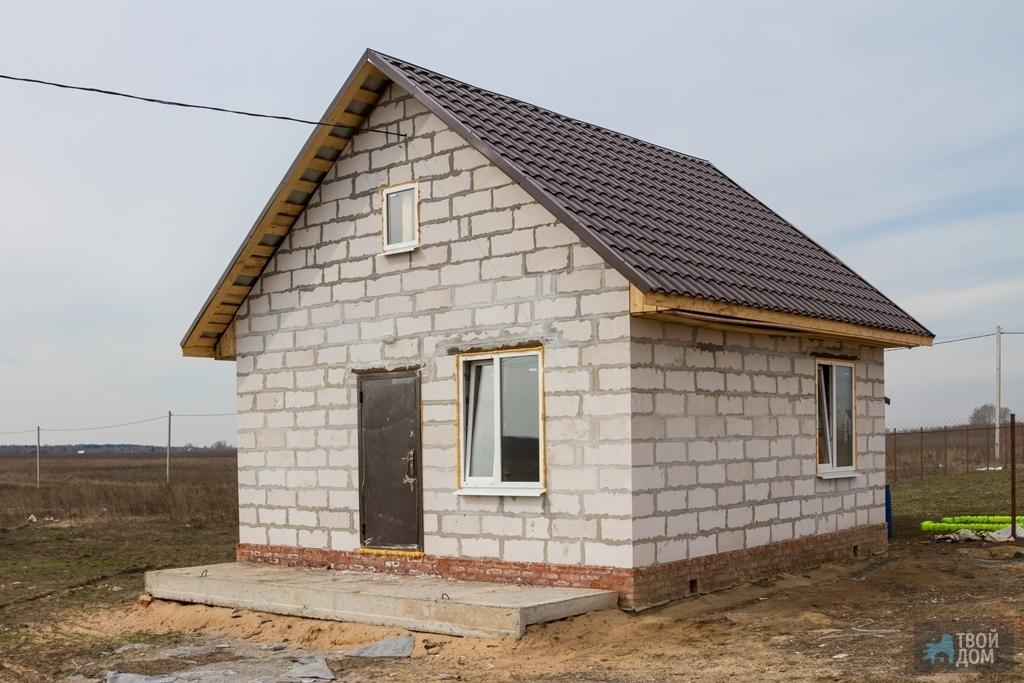 Как построить дачный домик из блоков своими руками фото 88