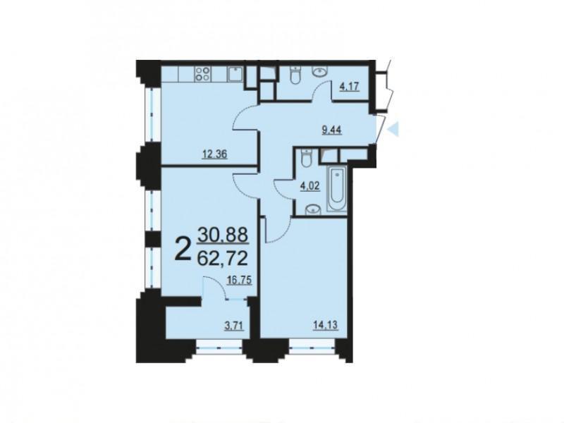 Москва, 2-х комнатная квартира, ул. Берзарина д.28с4, 12357157 руб.