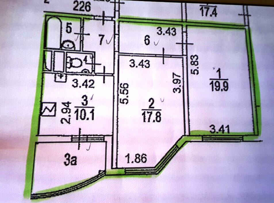 Москва, 2-х комнатная квартира, ул. Миклухо-Маклая д.33, 13700000 руб.