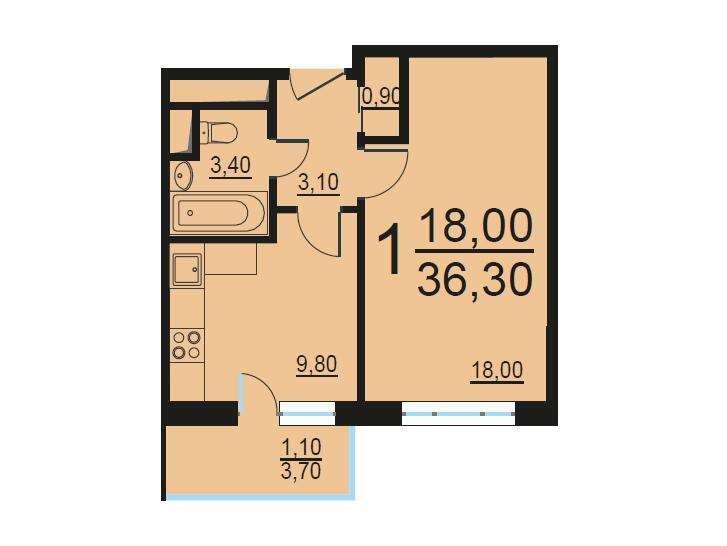 Москва, 1-но комнатная квартира, Внутренний проезд д.8с1, 8169097 руб.