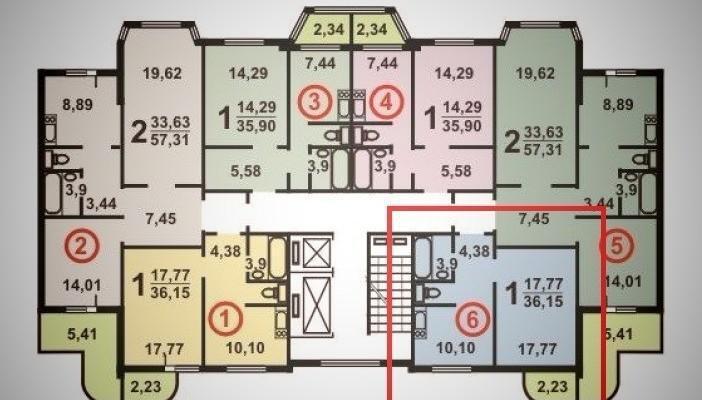 Планировки квартир.