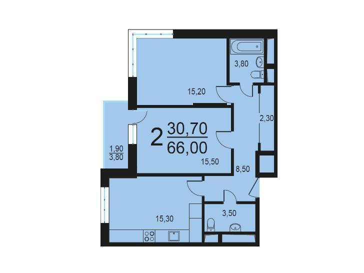 Москва, 2-х комнатная квартира, Внутренний проезд д.8с1, 12763080 руб.