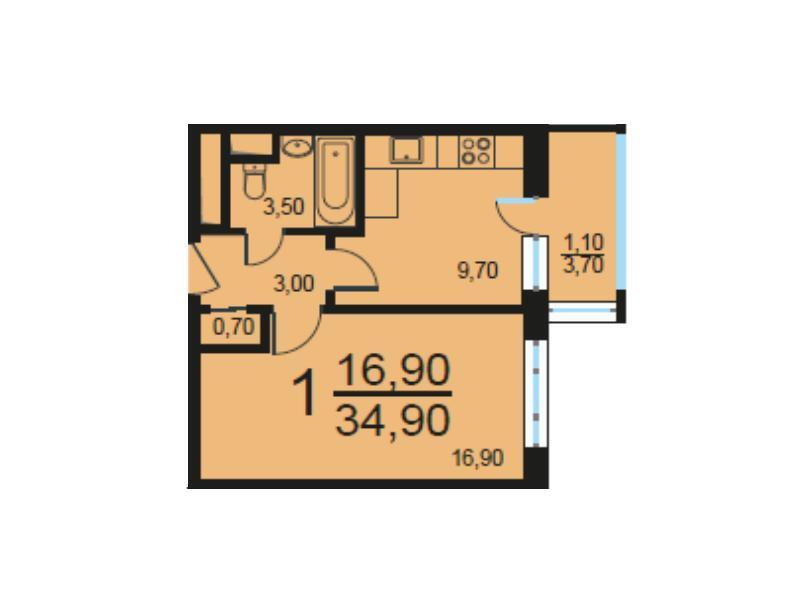 Москва, 1-но комнатная квартира, Внутренний проезд д.8с1, 6759886 руб.