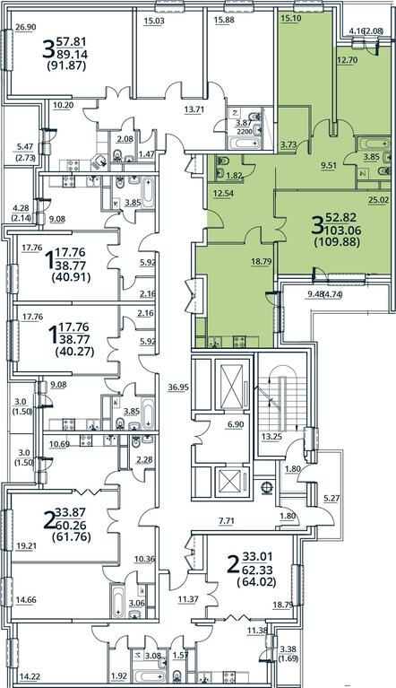Москва, 3-х комнатная квартира, ул. Радиальная 6-я д.7, к 30, 9928756 руб.
