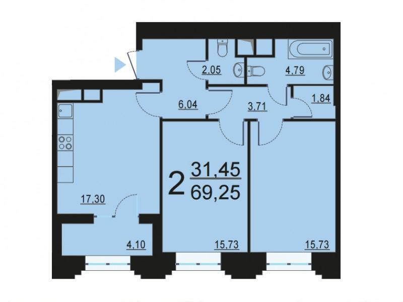 Москва, 2-х комнатная квартира, ул. Берзарина д.28, 13089220 руб.