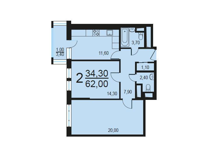 Москва, 2-х комнатная квартира, Внутренний проезд д.8с1, 12494550 руб.
