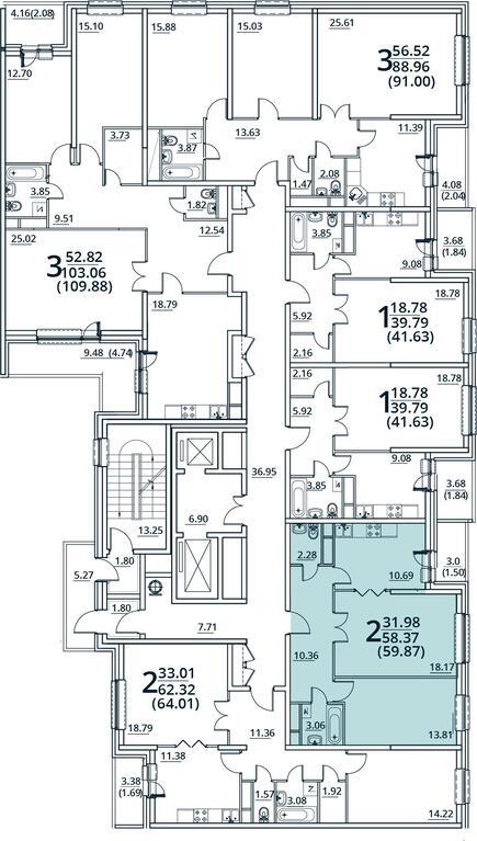 Москва, 2-х комнатная квартира, ул. Радиальная 6-я д.7, к 31, 5000000 руб.