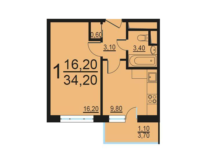 Москва, 1-но комнатная квартира, Внутренний проезд д.8с1, 7062026 руб.