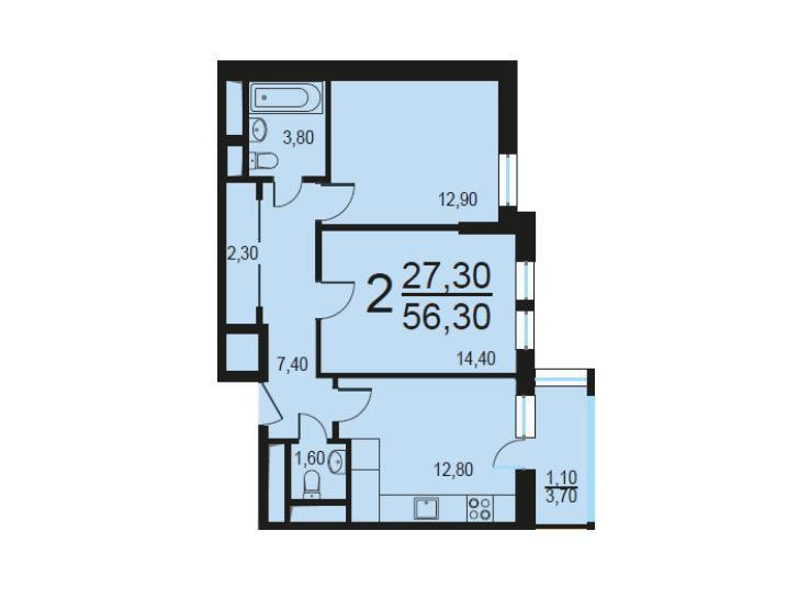 Москва, 2-х комнатная квартира, Внутренний проезд д.8с1, 11429463 руб.
