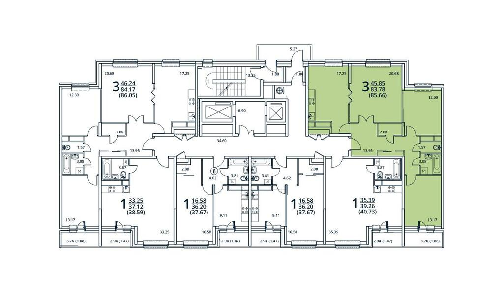 Москва, 3-х комнатная квартира, ул. Радиальная 6-я д.7, 8137700 руб.