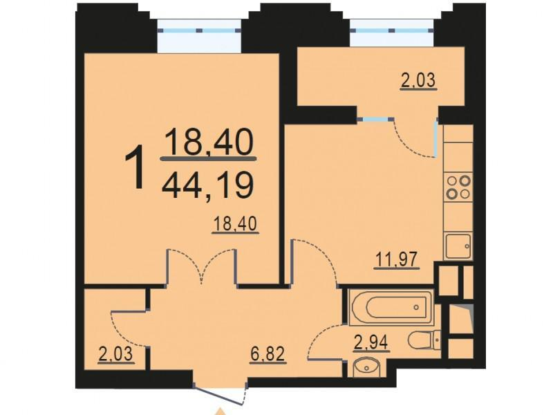 Москва, 1-но комнатная квартира, ул. Берзарина д.28, 8398928 руб.