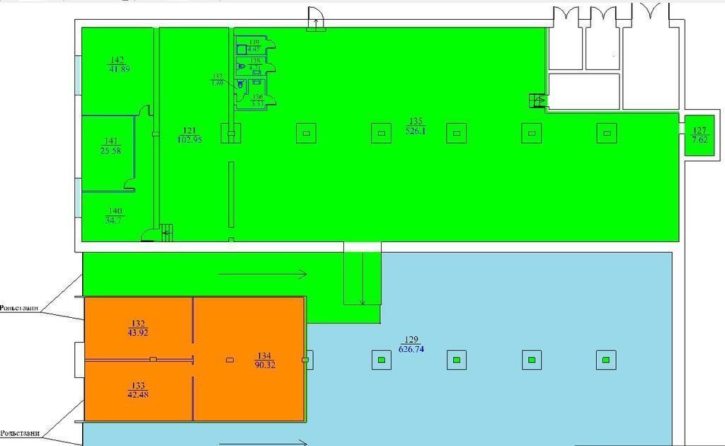 В аренду складское отапливаемое помещение 1380 кв.м. Улица Смольная,14, 7000 руб.