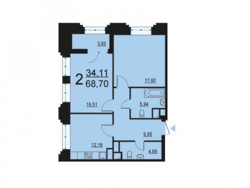 Москва, 2-х комнатная квартира, ул. Берзарина д.28, 13054924 руб.