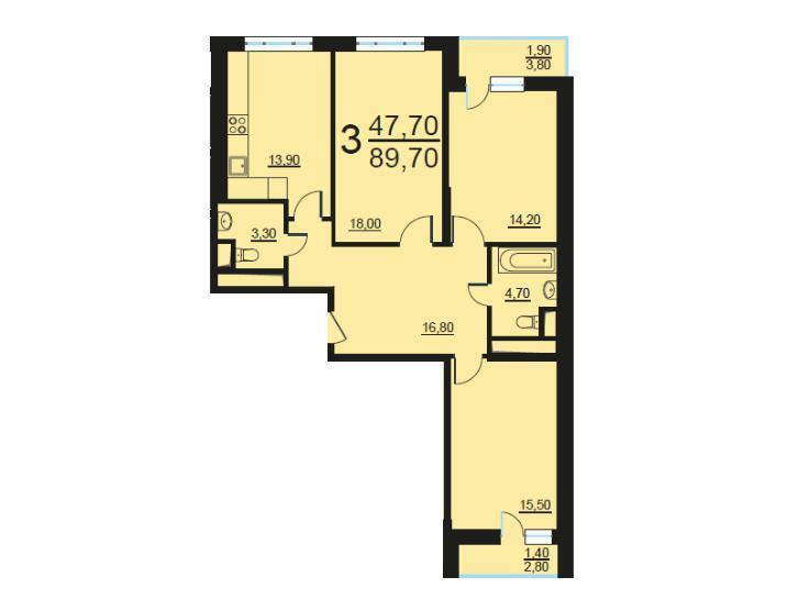 Москва, 3-х комнатная квартира, Внутренний проезд д.8с1, 18585840 руб.