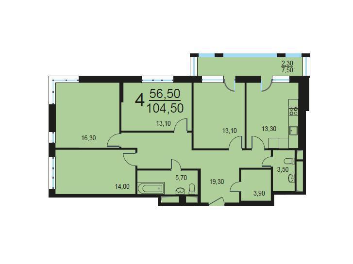 Москва, 4-х комнатная квартира, Внутренний проезд д.8с2, 21010770 руб.