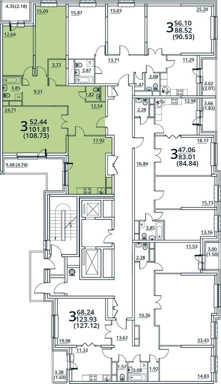 Москва, 3-х комнатная квартира, ул. Радиальная 6-я д.7, 9824842 руб.