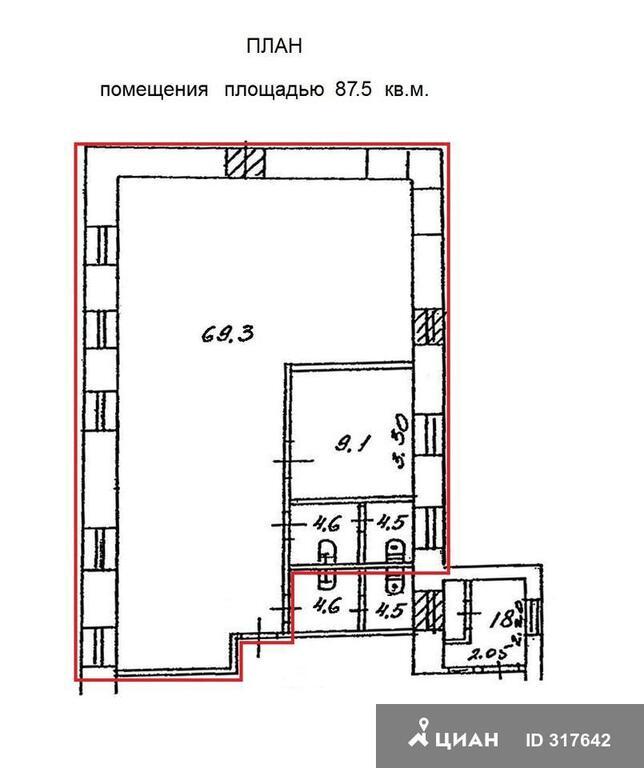 Псн 88 кв.м. метро кропоткинская, боровицкая, 27273 руб.