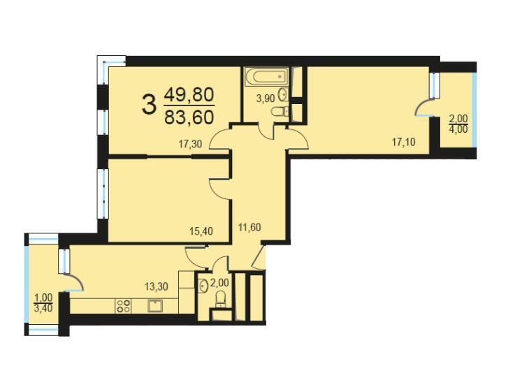 Москва, 3-х комнатная квартира, Внутренний проезд д.8с2, 17138000 руб.