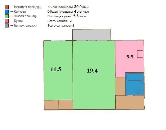 Москва, 2-х комнатная квартира, ул. Свободы д.89 к1, 6000000 руб.