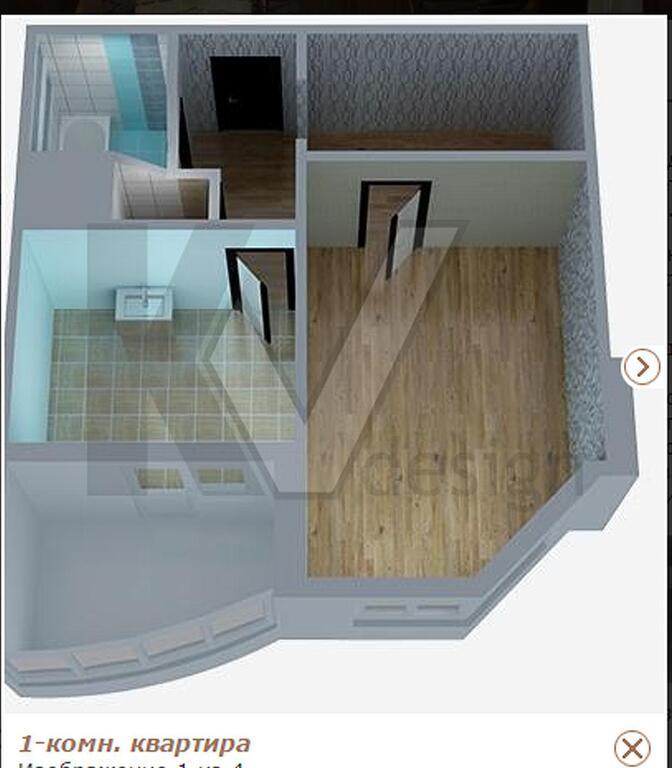 Однокомнатная квартира находится молодежная ул. , 70, м.. ку.
