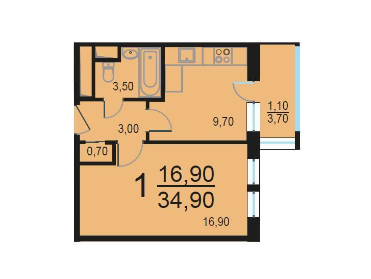 Москва, 1-но комнатная квартира, Внутренний проезд д.8с1, 7217041 руб.