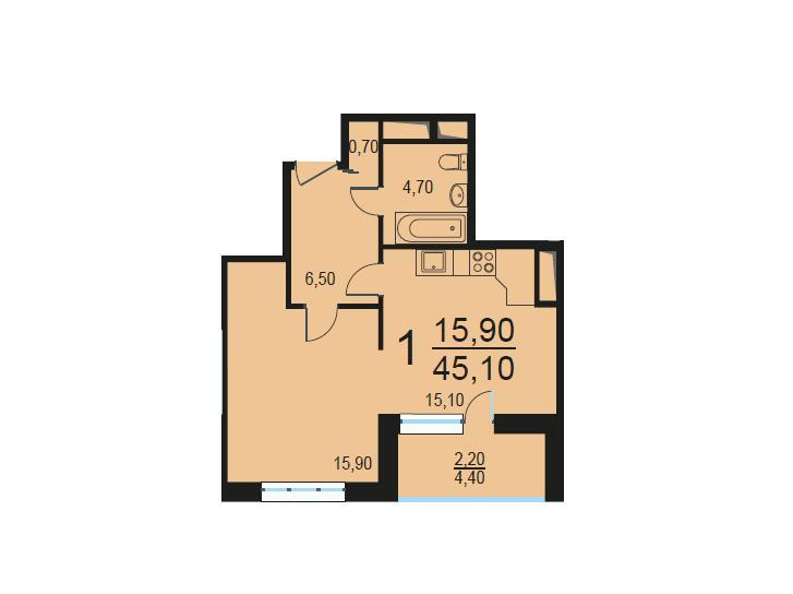 Москва, 1-но комнатная квартира, Внутренний проезд д.8с3, 9219838 руб.