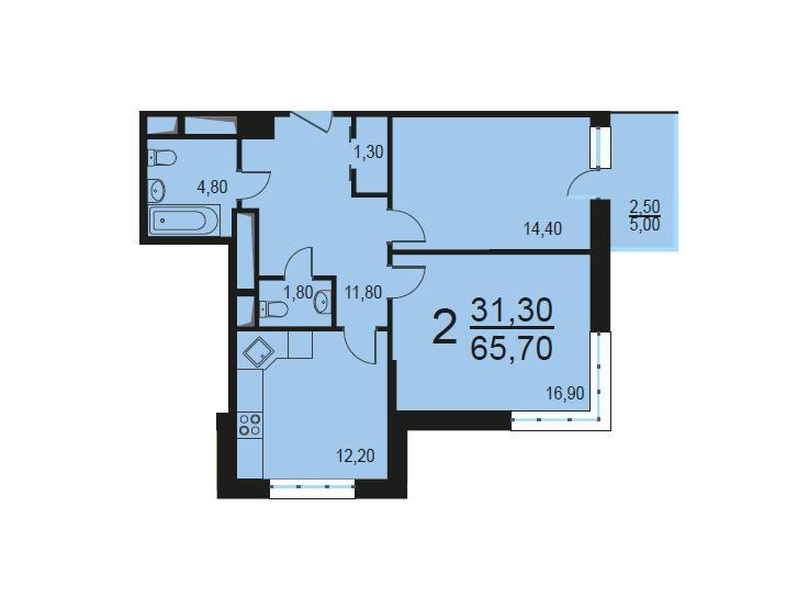 Москва, 2-х комнатная квартира, Внутренний проезд д.8с3, 13577168 руб.