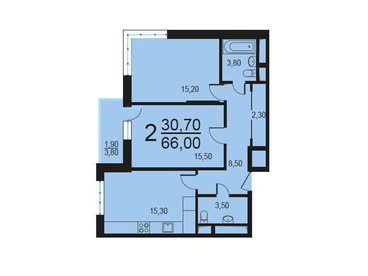 Москва, 2-х комнатная квартира, Внутренний проезд д.8с1, 13139742 руб.