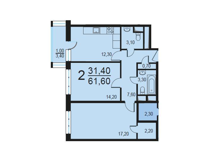 Москва, 2-х комнатная квартира, Внутренний проезд д.8с1, 12412831 руб.