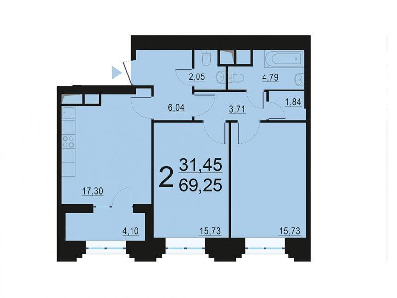 Москва, 2-х комнатная квартира, ул. Берзарина д.28с4, 13012837 руб.