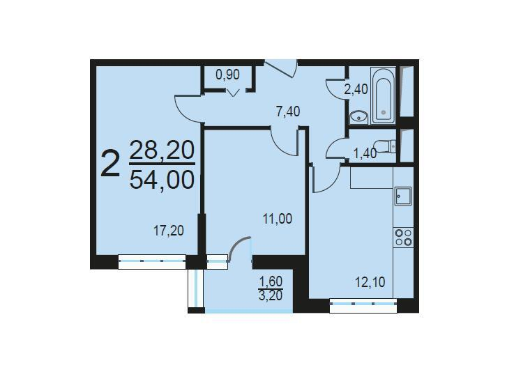 Москва, 2-х комнатная квартира, Внутренний проезд д.8с2, 11348694 руб.
