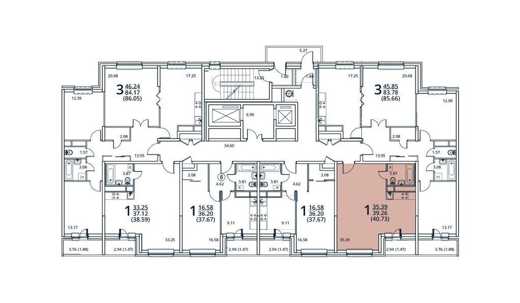 Москва, 1-но комнатная квартира, ул. Радиальная 6-я д.7, 4643220 руб.
