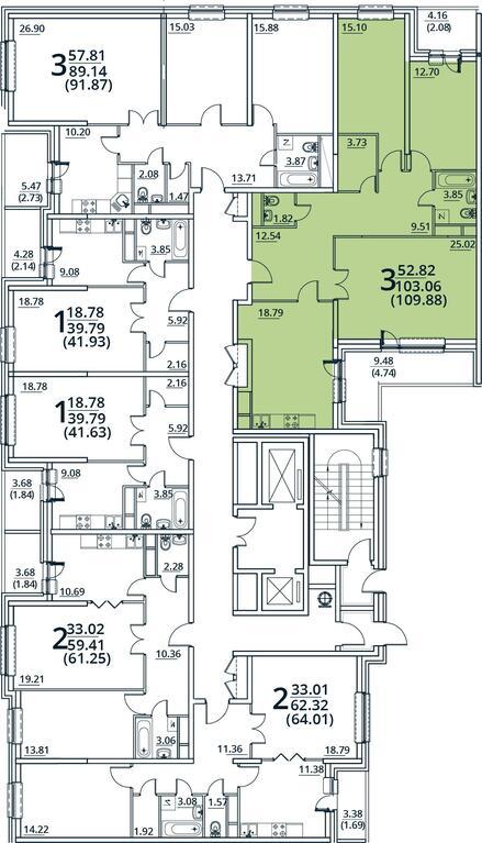 Москва, 3-х комнатная квартира, ул. Радиальная 6-я д.7, 9892496 руб.