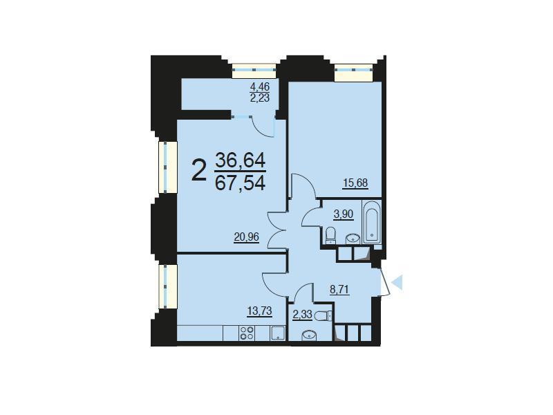 Москва, 2-х комнатная квартира, ул. Берзарина д.28, 12834559 руб.