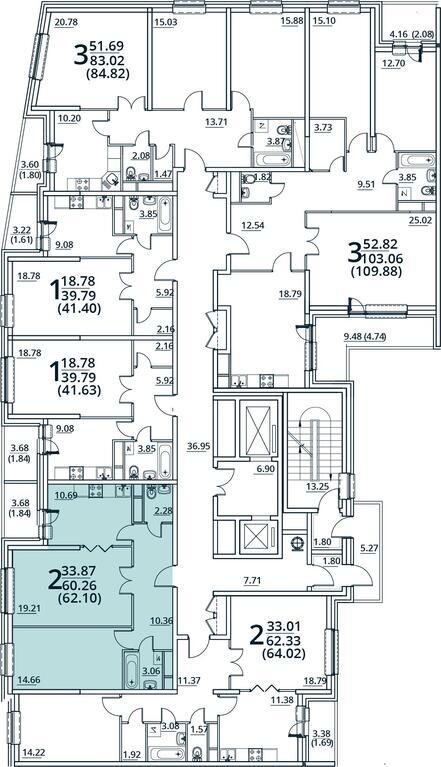 Москва, 2-х комнатная квартира, ул. Радиальная 6-я д.7, к 30, 5000000 руб.