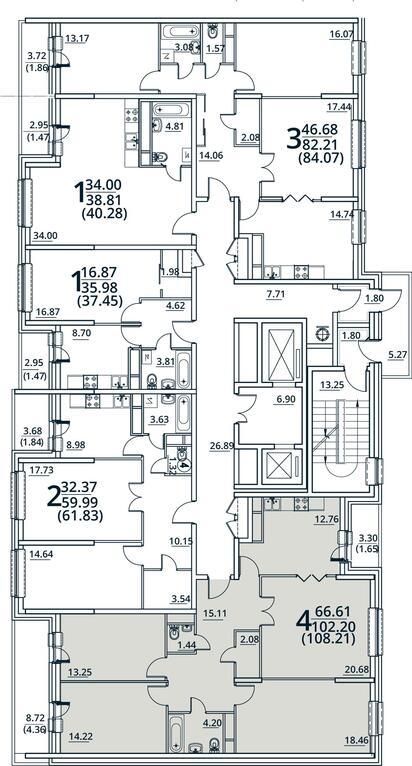 Москва, 4-х комнатная квартира, ул. Радиальная 6-я д.7, 9738900 руб.