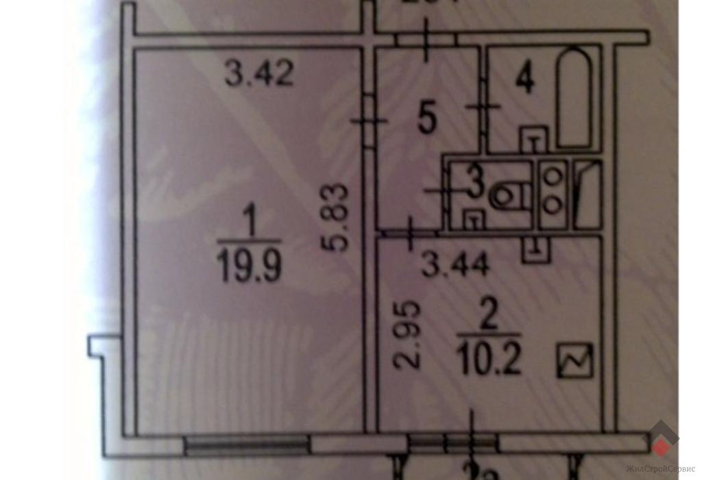 Москва, 1-но комнатная квартира, ул. Вяземская д.18 к1, 5900000 руб.