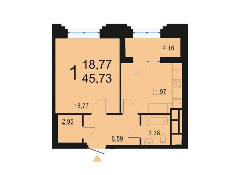 Москва, 1-но комнатная квартира, ул. Берзарина д.28с4, 8869059 руб.