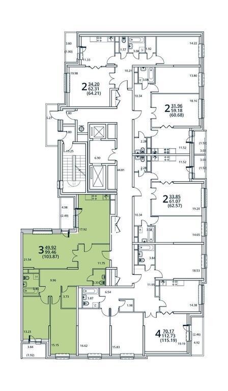 Москва, 3-х комнатная квартира, ул. Радиальная 6-я д.7, 9421009 руб.