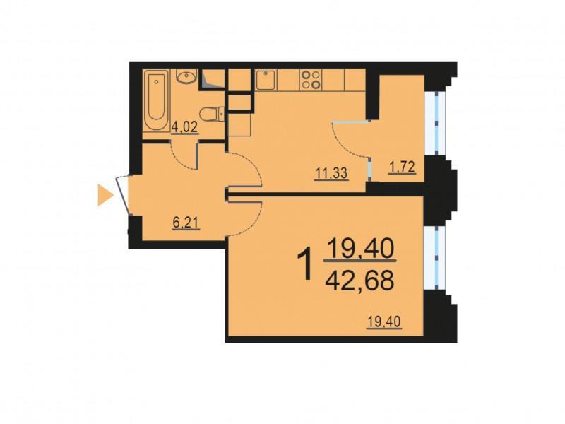 Москва, 1-но комнатная квартира, ул. Берзарина д.28, 8271683 руб.