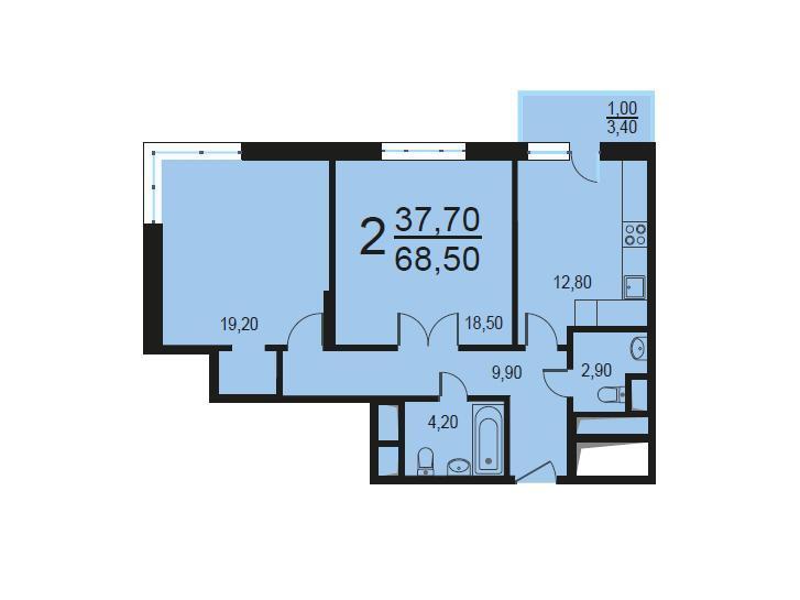 Москва, 2-х комнатная квартира, Внутренний проезд д.8с1, 13948176 руб.