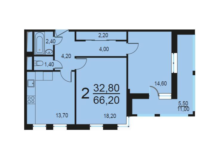 Москва, 2-х комнатная квартира, Внутренний проезд д.8с1, 13306200 руб.