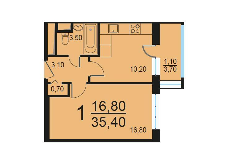 Москва, 1-но комнатная квартира, Внутренний проезд д.8с2, 7179439 руб.