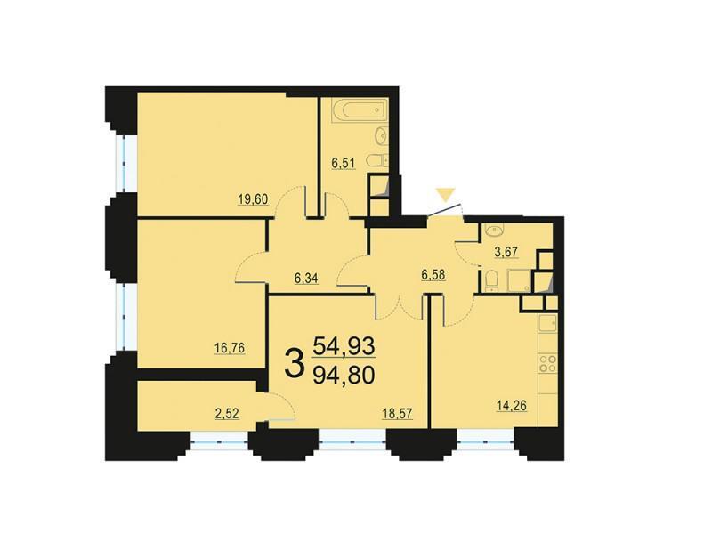 Москва, 3-х комнатная квартира, ул. Берзарина д.28, 18201695 руб.