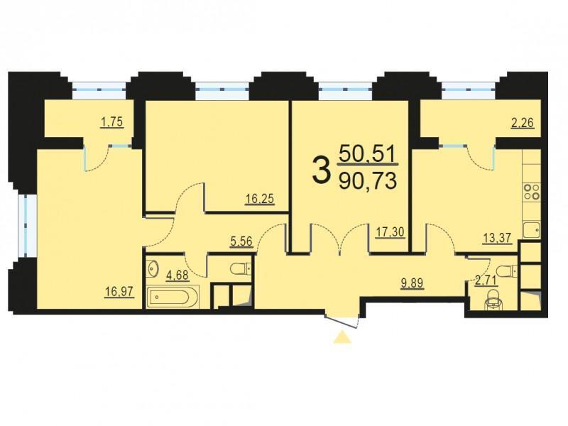 Москва, 3-х комнатная квартира, ул. Берзарина д.28с3, 17695526 руб.