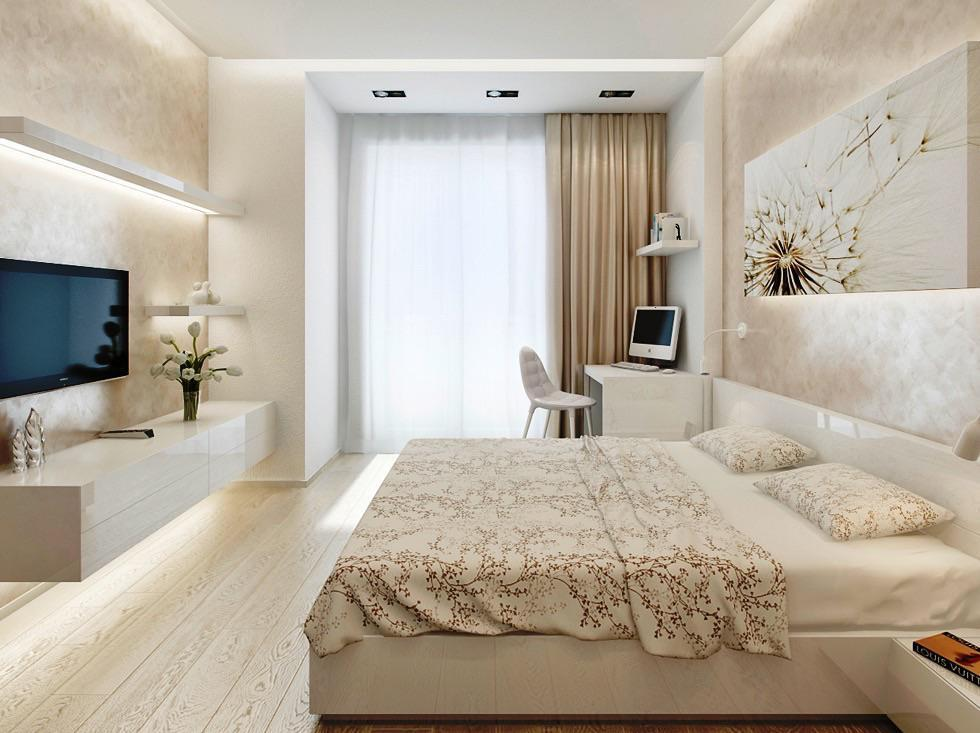 Дизайн спальни 10 м2 фото