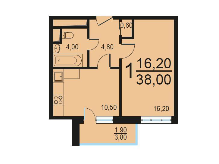 Москва, 1-но комнатная квартира, Внутренний проезд д.8с1, 7901644 руб.
